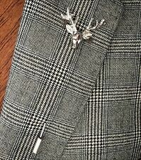 Luxury Men's Womens Suit Jacket Stag Head Lapel Pin