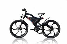 E-Bike Schwarz, Voll Federung, 36V11,6  26Zoll Magnesiumräder,Motor 500W