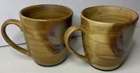Sango Splash China 4951 Set Of 5 Coffee Cup Mugs Brown Marble Glazed Drip🔥