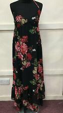 Womens River Island Long Floral Summer Halter Neck Dress Size 10