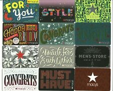 Lot (12) Macy's Gift Cards No $ Value Collectible Congrats Style Cupleanos Men's