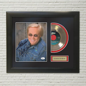 George Jones He Stopped Loving Her Today Reproduction Signature Record Display
