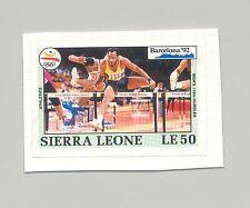 Sierra Leone #1513 Olympics 1v Imperf Proof on Card