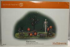 "Dept 56 Village Series Halloween ""Creepy Lighted Front Yard"" ""Brand New"""
