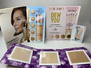 High End Foundation Sample Bundle Urban Decay Too Faced Tarte IT Cosmetics NEW