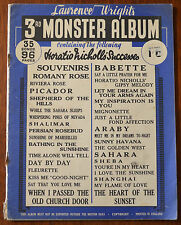 More details for lawrence wright's 3rd monster album 35 songs, 96 pages. romany rose etc. 1927