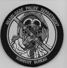 Miami Dade Police Robbery Detail Subdued patch State Florida FL