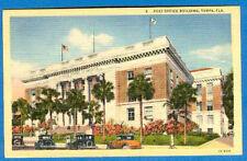 Post Office Building, Tampa, Florida - Linen Postcard