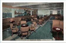 Atlantic City NJ Surf N Sand Room Seaside Hotel Interior Lumitone 1930s Postcard
