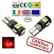2x CanBus Red LED No Error HID T10 w5w 501 194 Parking Bulbs Side Lights