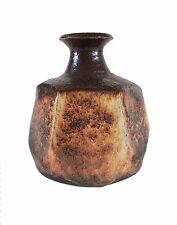 Vintage Wheel Thrown Studio Pottery Bud Vase - Initialed - Canada - Mid 20th C.