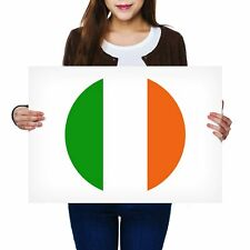 A2 - Ireland Flag Irish Poster 59.4X42cm280gsm #9088