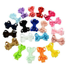 10pcs Toddler Hair Bowknot Girls Baby Alligator Clip Grosgrain Ribbon Handmade