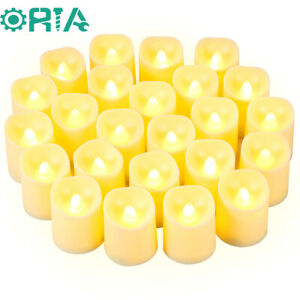 Realistic 24 Packs Battery Candles, Electric Flamelss Candles for Christmas