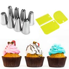 14pc Russian Flower Icing Piping Nozzles Cake Decoration Tips Pastry Baking Tool