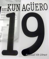 Manchester City Kun Aguero Uefa Champions League 2011/12 Football Shirt Name Set