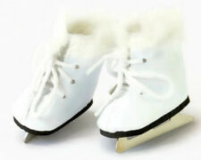 White Ice Skates w/Fur Shoes for 14.5 inch American Girl Wellie Wishers Dolls