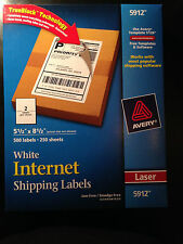 Avery 5912 Internet Labels - 5.5x 8.5 - 500 Labels New w/FREE PRIORITY MAIL SHIP