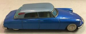 Vintage Rare Blue Bandai 1950's Citroen DS19 Tin Friction Toy Car Japan