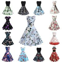 Women Vintage Prom Ball Gown Evening Party Dress Retro Swing Maxi Dress Sundress