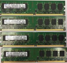 4GB 4X 1GB PC2-5300 667 Mhz Desktop Memory DDR2 RAM Non-ECC DIMM Low Density