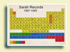 Sarah Records Periodic Table Art Poster Print