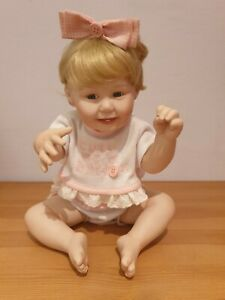 Doll Cute As A Button Girl Bisque Porcelain Ashton Drake 1993 by Titus Tomescu