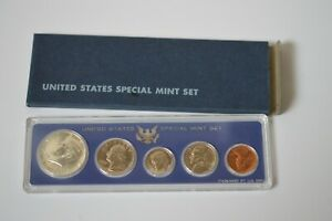 1966 SMS Set Original Box 40% Silver Kennedy US Special Mint Set 5 Coins