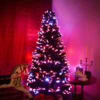 GREEN FIBRE OPTIC CHRISTMAS TREE COLOUR CHANGING 3ft XMAS TREE 90cm