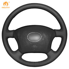 Black Leather Steering Wheel Cover for Old Toyota Land Cruiser Prado 120/ Lexus