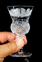 Beautiful Edinburgh Crystal Thistle Sherry Glass