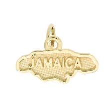 Lgu 14Kt Yellow Gold Polished Travel Jamaica Charm Pendant