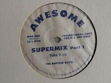 "THE BOVVER BOYS Supermix (Part 1) USA 12"" 1987 EX vinyl DJ Promo House Cut-up"