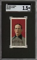 Rare 1909-11 T206 HOF Fred Clarke Portrait Sweet Caporal 150 Pittsburg SGC 1.5