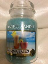 Yankee Candle Bahama Breeze Large Jar 22oz NEW! Blue Tropical Island Cocktail