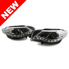 09-12 VW CC E-CODE PROJECTOR HEADLIGHTS W/ S5 STYLE LED STRIP - CHROME