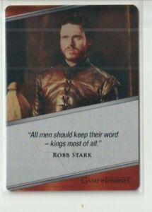 Game of Thrones Iron Anniversary Series 1 Richard Madden Robb Metal Card E33