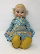 Vintage Authentic Mrs. Beasley Rubber Face Doll By The Rushton Company HTF 22""