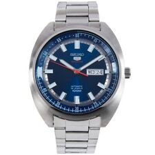 Seiko 5 Sports 100M Blue Helmet Turtle Automatic Men's Stainless Steel Watch