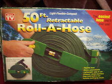 50 ft retractable roll a hose, New,as seen on tv