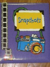 Amscan scrapbook purple cover 6 pages, 12 sheets (can add more)
