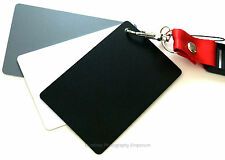 3 en 1 Digital negro / blanco 18% gris color blanco balance exposición tarjetas y correa