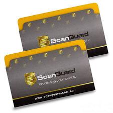 ScanGuard Top Opening RFID Blocking Sleeves - Twin Pack