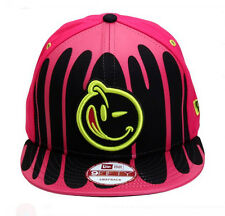 NEW Authentic YUMS New Era Black Tag 4 Drenched Pink/Black/Cyan Snapback 66BT