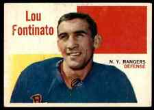 1960-61 TOPPS LOU FONTINATO NEW YORK RANGERS #61 JM