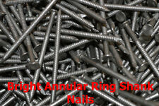 65mm x 3.35mm Bright Annular Ring Shank Nails Pick Your Pack Size - TFD