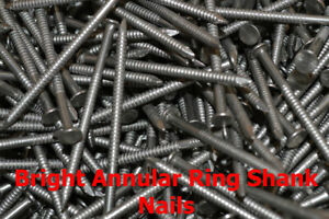 30mm x 2.36mm Bright Annular Ring Shank Nails Pick Your Pack Size - TFD