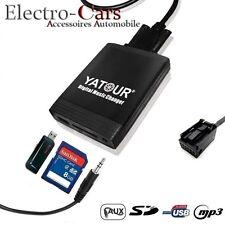 ADAPTATEUR MP3 USB AUTORADIO COMPATIBLE PEUGEOT 207 206 307 308 407 807 3008