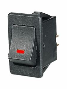 Narva Off On Rocker Switch with Red LED 12V Only 63021BL