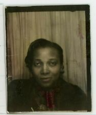 Photo booth African American Pretty Woman Tinted 1930s